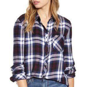 Beachlunchlounge Plaid Flannel Shirt NWT